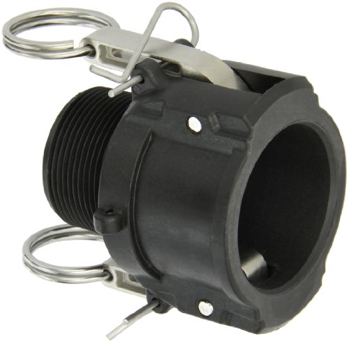 Dixon Valve PPB150 Polypropylene Type B Cam and Groove Fitting with EPDM Gasket, 1-1/2