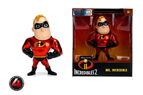 Metalfigs Jada Toys Disney Pixar Incredibles 2 Movie- Mr. Incredible Toy Figure, 4, Red