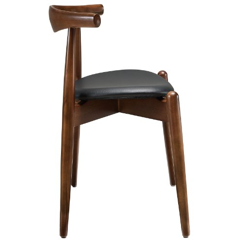Versatile Kitchen Table And Chair Sets For Your Home: Modway Stalwart Dining Side Chair In Dark Walnut Black