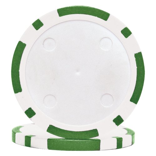 - Trademark Poker Classic Eight Stripe Dual Color 50 Poker Chips, 11.5gm, Green