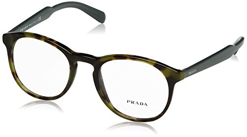 Prada PR19SV Eyeglass Frames LAB1O1-50 - Top Black/matte Tortoise - Price Glasses Prada