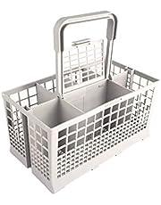 Cesta universal de cubiertos para lavavajillas   24 x 13,50 x 12,50 cm   Sierte compartimentos   Gris   Talla única