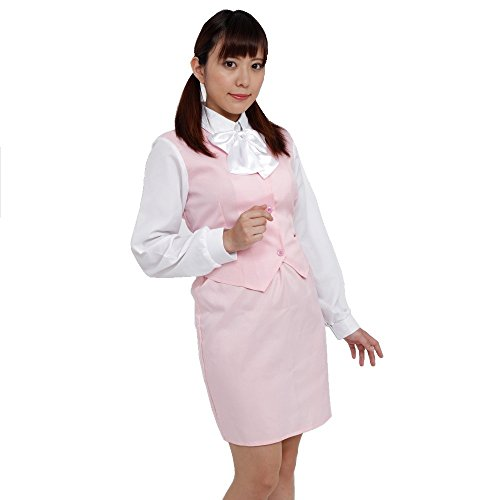 Patymo Japanese Female Office Worker Costume --XS/Small (Pink)