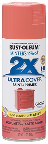 Coral Spray - Rust-Oleum 283189-6 PK Painter's Touch 2X Ultra Cover, 12 oz, Coral