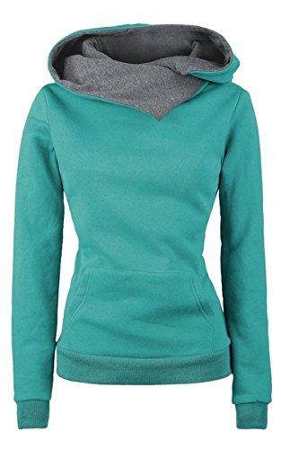 Ecowish - Sudadera con capucha - chaqueta - para mujer Verde