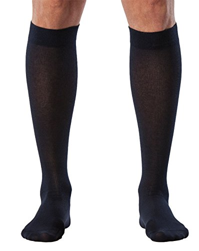Sigvaris 222 Zurich de seaisland para hombre algodón rodilla alta calcetines -20 – 30 mmHg