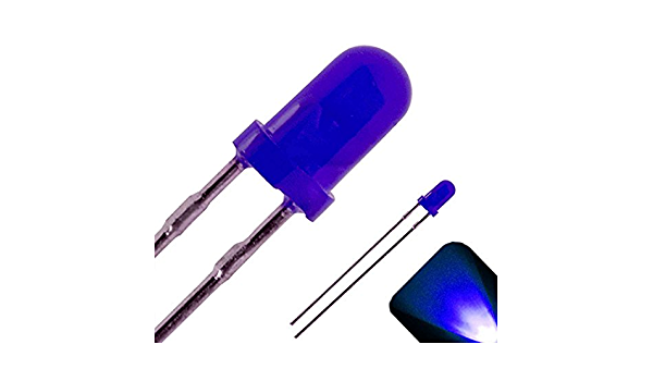 100Pcs Diffused Led 3Mm Blue Color Blue Light Super Bright pa