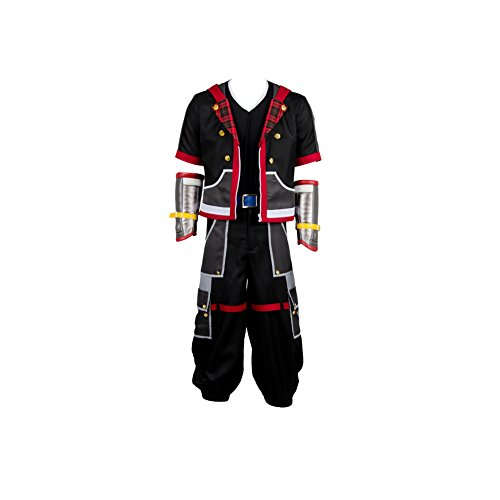 (Obtai Halloween Role Play Game Sora Cosplay Costume Full Set Suit Outfit Uniform (Male:Medium,)