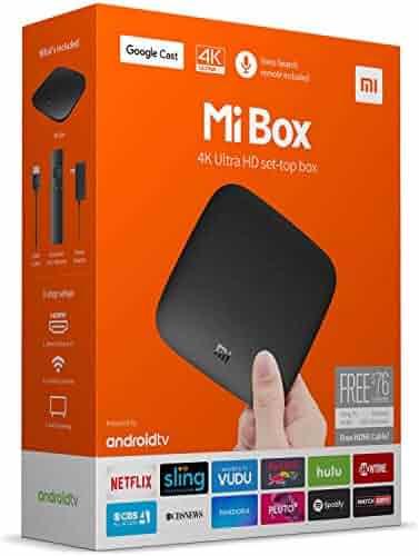 Original Xiaomi Mi Box - 4K Ultra HDR TV Streaming Media Player with Voice Search Remote (MDZ-16-AB) International Version