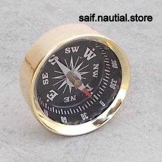 Solid Brass Directional Pocket Compass Hiking/Camping/Survival Gear by saif.nautical.store