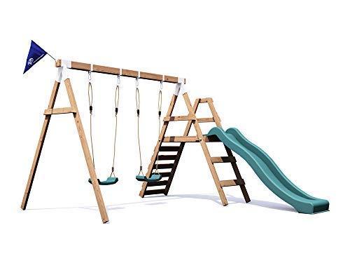 Klettergerüst Baby Holz : Dunster house holz schaukelgerüst mit schaukeln wellenrutsche