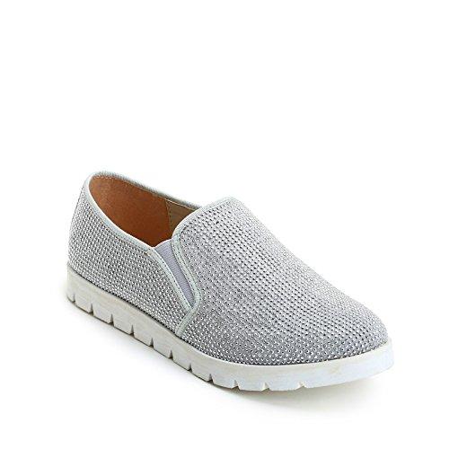 Prendimi Scarpe&Scarpe - Slip-ONS with Mini-Studs, Sneakers Grey