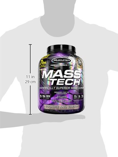 Muscletech Performance Series Mass-Tech Cookies and Cream - 3200 gr: Amazon.es: Salud y cuidado personal