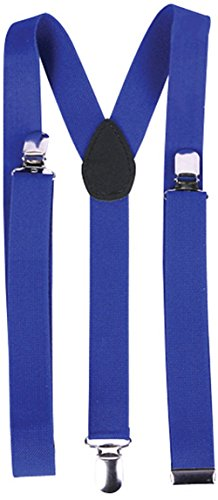 Child's Clown Costume Accessory Bright Royal Blue Suspenders