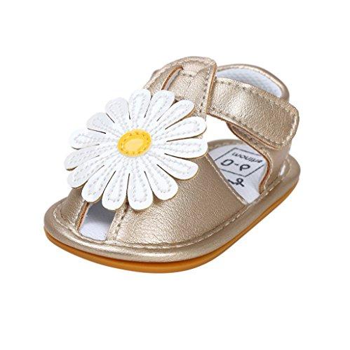 Bebé Prewalker Zapatos Auxma Primeros caminante de la princesa del niño del bebé zapatos Sandalias de los zapatos del arco para 0-6 6-12 12-18 meses I