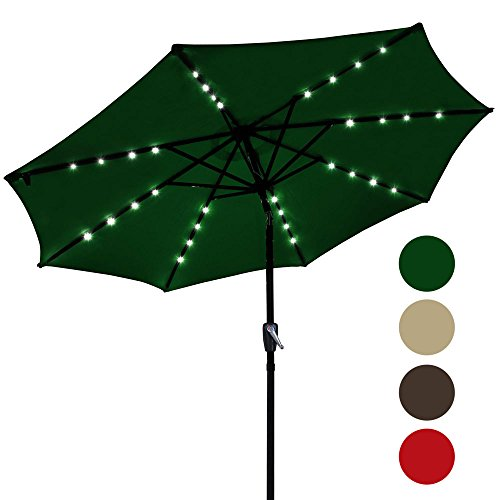 Outdoor Aluminium Umbrella Powered Yescom