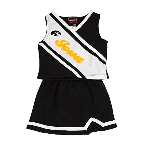 b83478394 Outerstuff Iowa Hawkeyes NCAA Black 2-Piece Cheerleader Top & Skirt Set  Toddler (2T-4T)