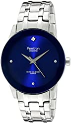 Armitron Men's 20/5074BLSV Diamond-Accented Blue Dial Silver-Tone Bracelet Watch
