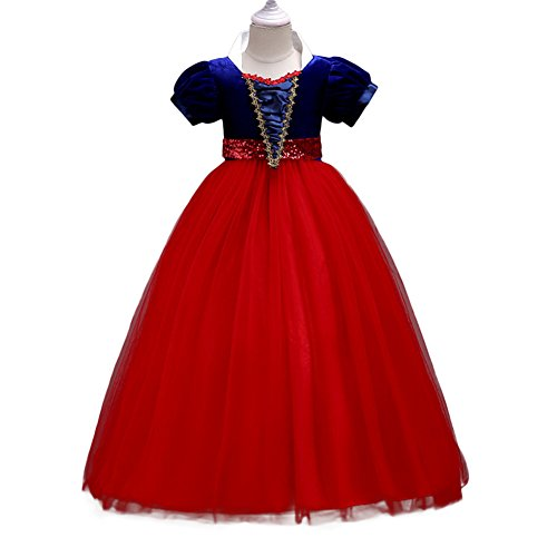 Yiwa Baby Girl Stylish Tutu Princess Dress Lovely Bowknot Decoration Dress for Halloween red 150cm