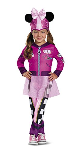 Disney Car Costume Toddlers (Minnie Roadster Classic Toddler Costume, Multicolor, Medium (3T-4T))