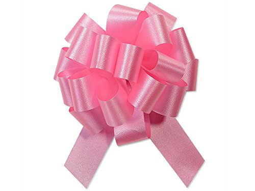 Gift Wrap Christmas Wedding Gift Wrap Pull Bows Pull String Bows 4 Inch 18 Loop - Set of 10 (Pink)