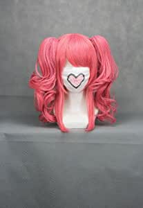 Ruler 40cmx Long Code Geass-anya Alstreim Pink Anime Cosplay Wig+2clip on Ponytail