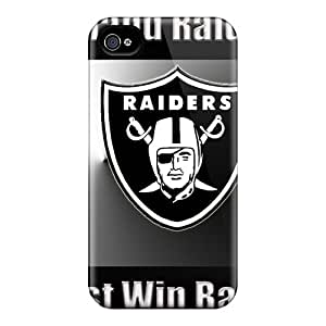Laggo Snap On Hard Case Cover Oakland Raiders Protector For Iphone 4/4s