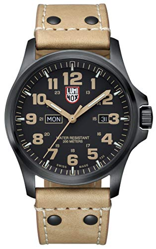 Luminox Atacama Field Day Black Carbon Fiber Dial Brown Leather Mens Watch 1925