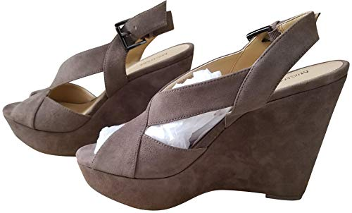 Michael Michael Kors Womens Becky Suede Open Toe Ankle Strap, Taupe, Size 11.0