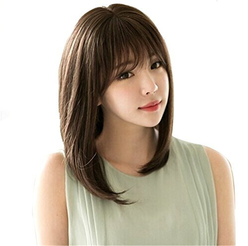 neat series semi long wig NET [morningplace] color choice with even more straight (light brown) (Angel Brown Wig)