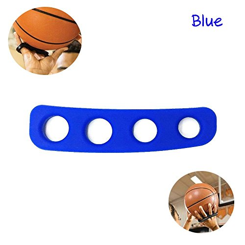 FANwenfeng Silicone Basketball Shooting Trainer Stephen Curry Same Style 3 Point Shooting Posture Orthotics Jump Shoot Accuracy Aid Training Tool for Kid Youth (Blue, M)
