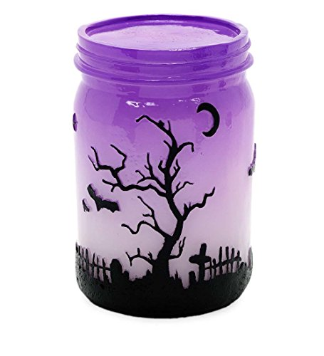 Indoor Large Color Changing Lighted Jar Halloween Decoration Polyresin Battery Operated 3.5 dia. x 5.5 H (Halloween Decorations Jars)