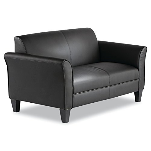 Alera ALERL22LS10B Reception Lounge Furniture, Loveseat, 55-1/2w x 31-1/2d x 32h, Black