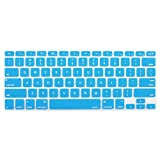MOSISO Keyboard Cover Silicone Skin Compatible MacBook Pro 13 Inch, 15 Inch (with or Without Retina Display, 2015 or Older Version) MacBook Air 13 Inch, Aqua Blue