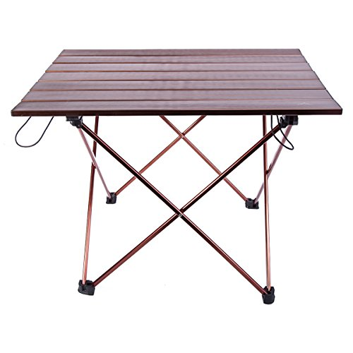 Himal Portable Ultralight Folding Aluminum Table Camping Picnic Roll Up Table 22 x (Foldable Wooden Picnic Table)