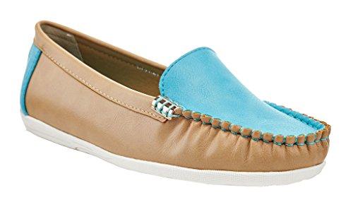 Lady Godiva Färg Tillfälliga Slip-on Mockasiner Loafers Drivande Båt Platta Skor Blå