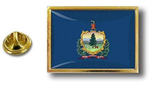 mariposa Estados Badge clip metal Vermont Pin con Akacha de de de Estados Pins Bandera Unidos Pin UqPqExz