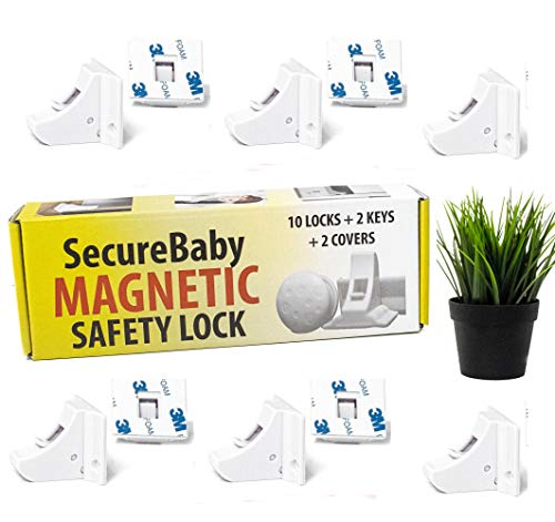 Baby Safety Locks - Cabinet Child Latches - Baby Proofing Magnetic – Securebaby