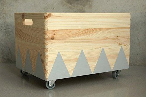 Caja de Juguete de Madera Cano - Triángulo Escandinavo Rollers