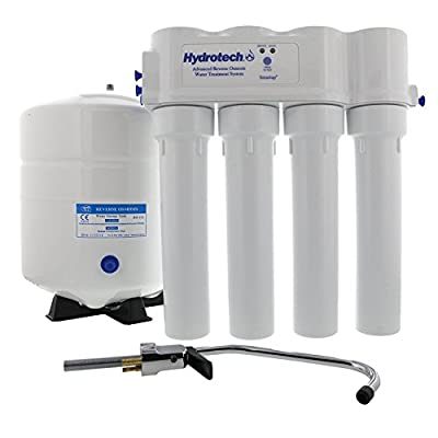 Hydrotech 4VTFC75G-PB 4 Vessel 75 GPD Reverse Osmosis System with Push Button Monitor