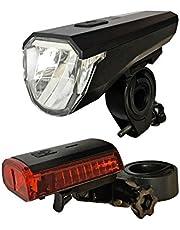 Ecolle LED Akku Fahrradlampe Fahrradlicht Set mit Front und Rücklicht akkubetrieben wasserresistent StVZO Kompatibel