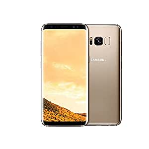 "Samsung Galaxy S8+ (64GB) G955FD 6.2"" Dual SIM GSM Factory Unlocked, International Model, No Warranty (Maple Gold)"