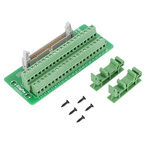 IDC40P 40Pin Male Header Breakout Board Terminal Block Connector PLC Interface with Bracket Suitable for PLC, Mitsubishi Servo and DIN Rail Mount. ()