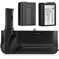 Powerextra VG-C2EM Battery Grip + 2-Pack High Capacity 1500mAh NP-FW50 Batteries Replacement for Sony Alpha A7II/A7S II/A7R II Digital SLR Camera