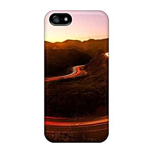 New Design Shatterproof YQg14099tUyk For SamSung Note 2 Phone Case Cover (auto Lights On A Canyon Road)