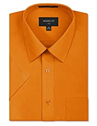 Ward St Men's Regular Fit Short Sleeve Dress Shirts