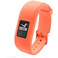 Garmin vivofit JR and vivofit 3 band, SnowCinda Silicone Wristband XL Replacement Bands for Garmin vivofit JR and vivofit 3, Secure Watch Strap, Choice of Colors