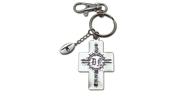 Amazon.com: Death Note Cross & Ryuk Charm Metal Keychain ...