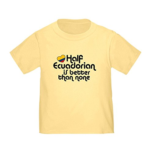 CafePress Half Ecuadorian Toddler T-Shirt Cute Toddler T-Shirt, 100% Cotton Daffodil Yellow