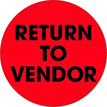 "return to vendor Amazon.com: Ship Now Supply SNDL1268 Tape Logic Labels, ""Return To ..."